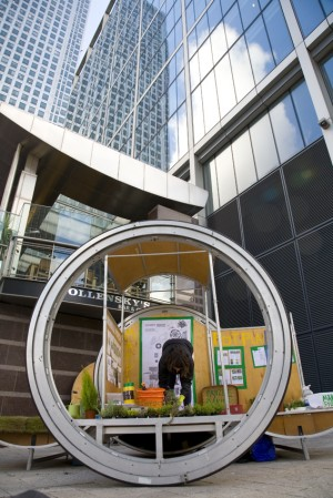 Mobile Porch at Canary Wharf, photo Ben Brannan