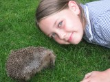 Stumpy the hedgehog and Maddie