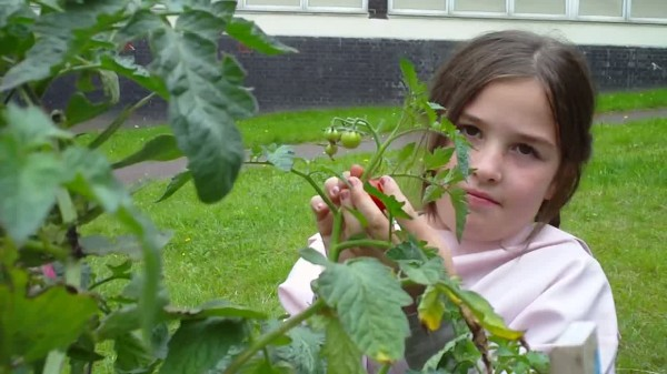 Dr Rosie Apple in the garden