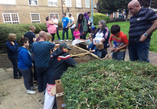 The Great Outdoors - planting the community garden